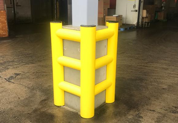柱用、ポールガード(動画で見る 「MPM樹脂ガード」)